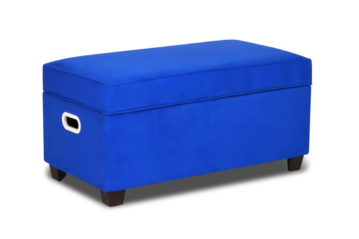 Zippity kids jack storage bench ocean blue at gardner white for Gardner storage
