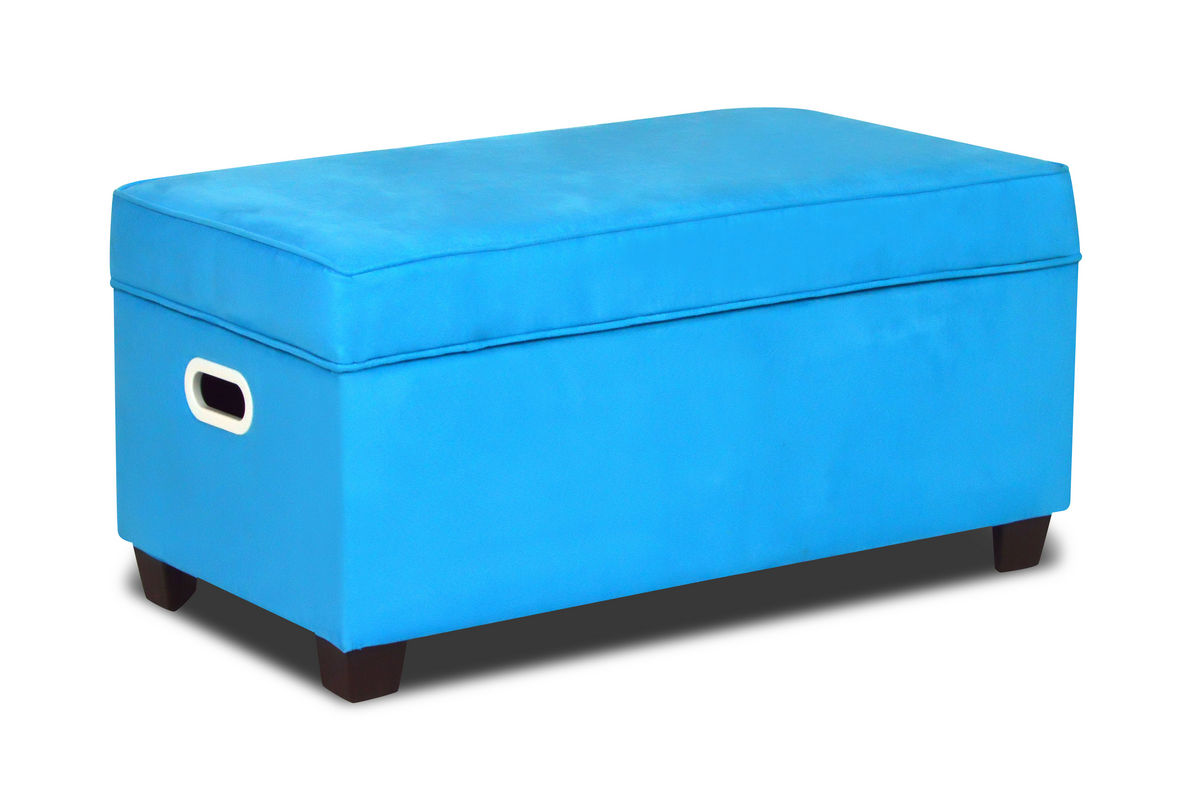 Zippity Kids Jack Storage Bench Sky Blue At Gardner White