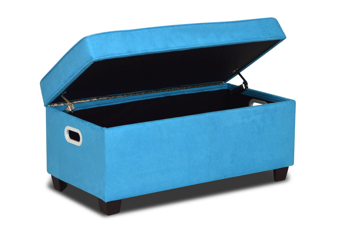 Zippity kids jack storage bench sky blue at gardner white for Gardner storage