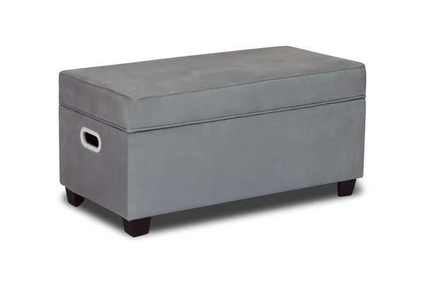 Zippity kids jack storage bench pebbles grey for Gardner storage
