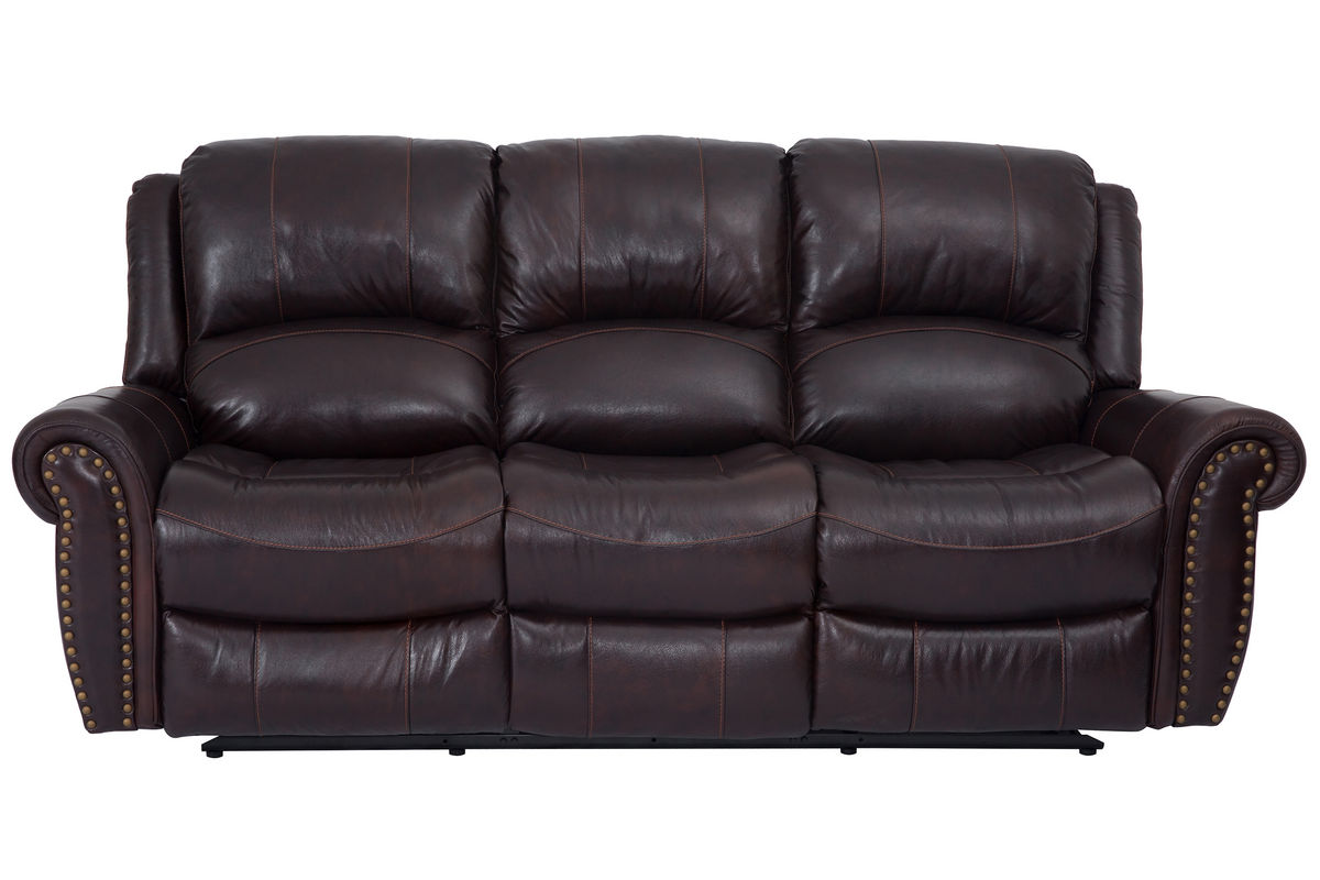 Westland Leather Reclining Sofa from Gardner-White Furniture
