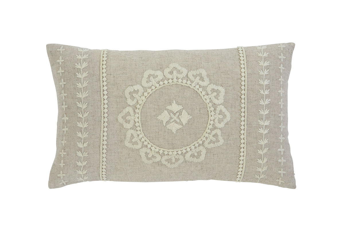 Ashley Embroidered Antique Accent Pillow *FDROP-170629