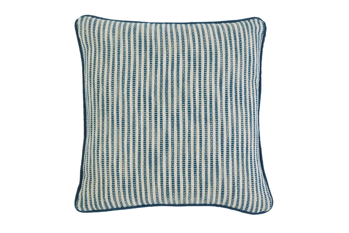 Ashley Striped Turquoise Accent Pillow At Gardner-White