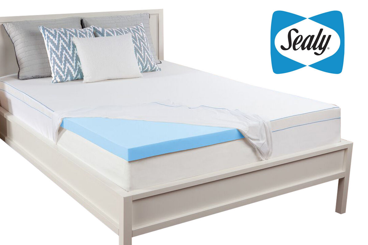 Sealy 3 california king memory foam mattress topper at gardner white Memory foam king mattress
