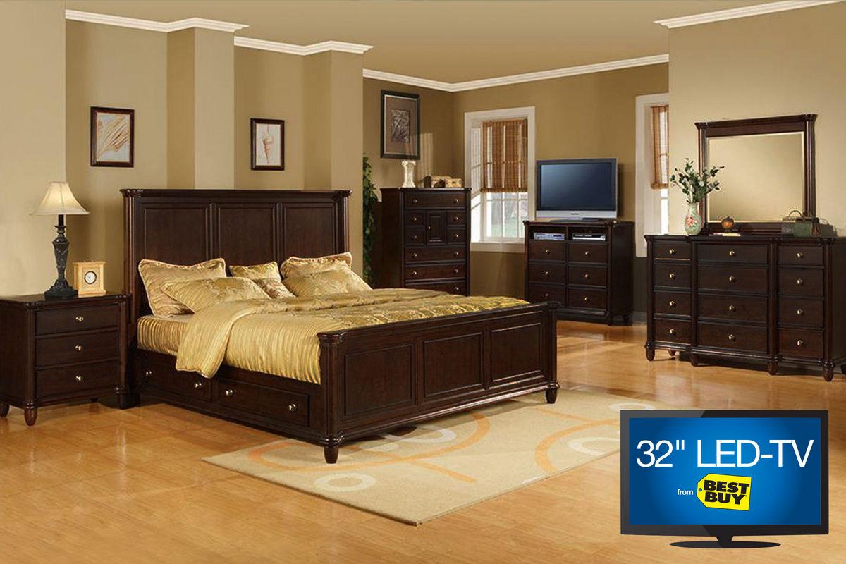 "Hamilton King Bedroom Set with 32"" LED TV"