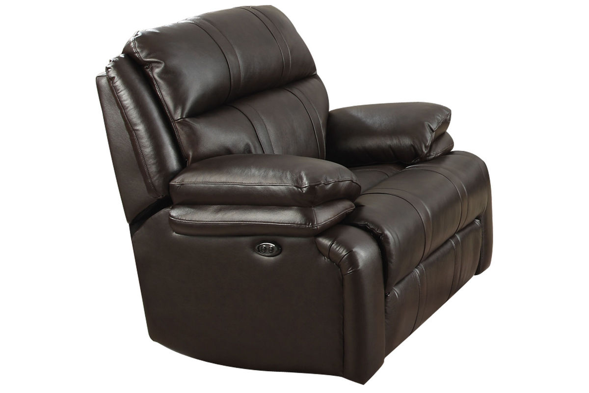 Houston Leather Power Gliding Recliner At Gardner White