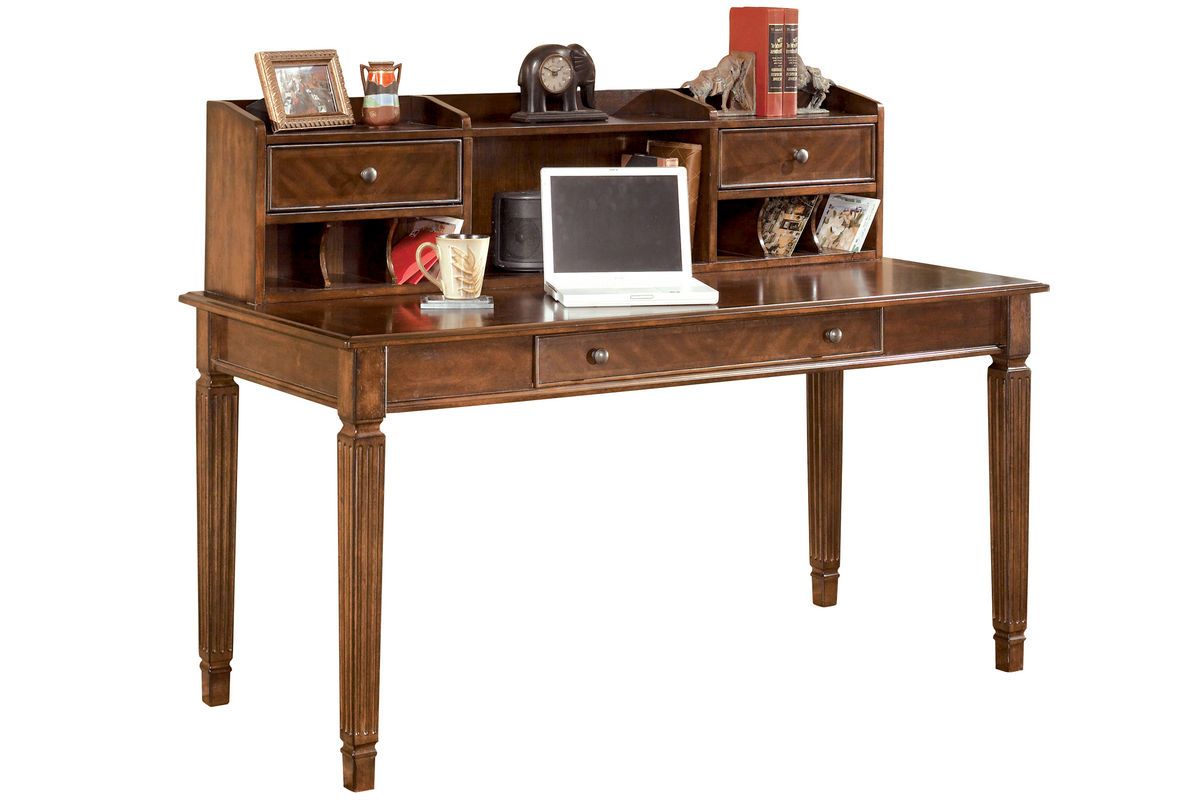 Hamlyn home office short desk hutch by ashley hutch only for Furniture xchange new jersey