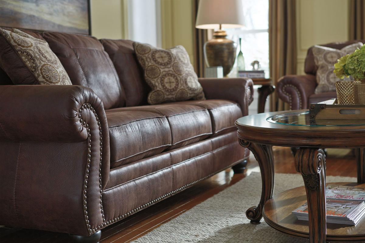 Breville Brown With Nailhead Sleeper Sofa At Gardner White