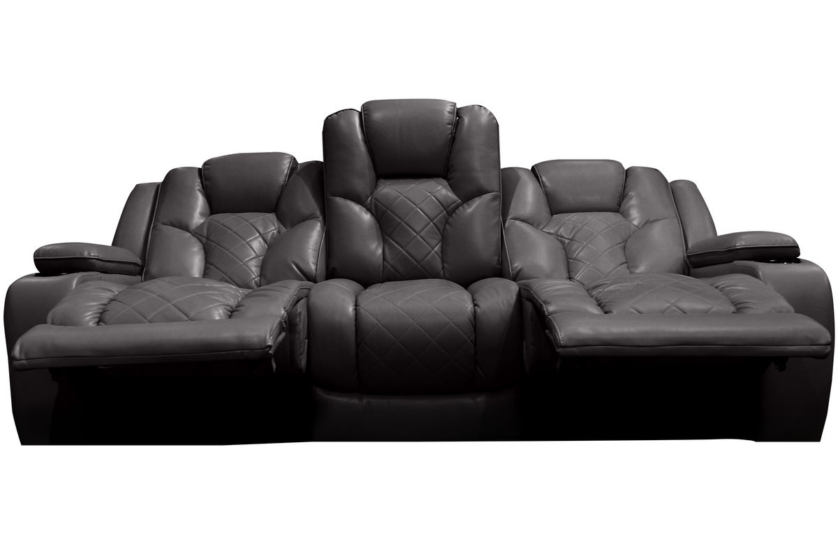 Bastille power reclining sofa with drop down table at for Sectional sofa with drop down table