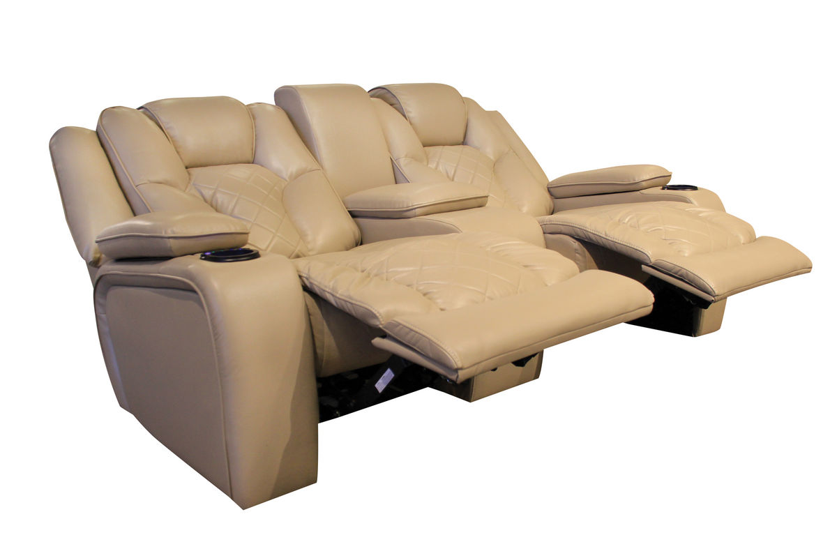 Turismo power reclining loveseat with console Reclining loveseat with center console