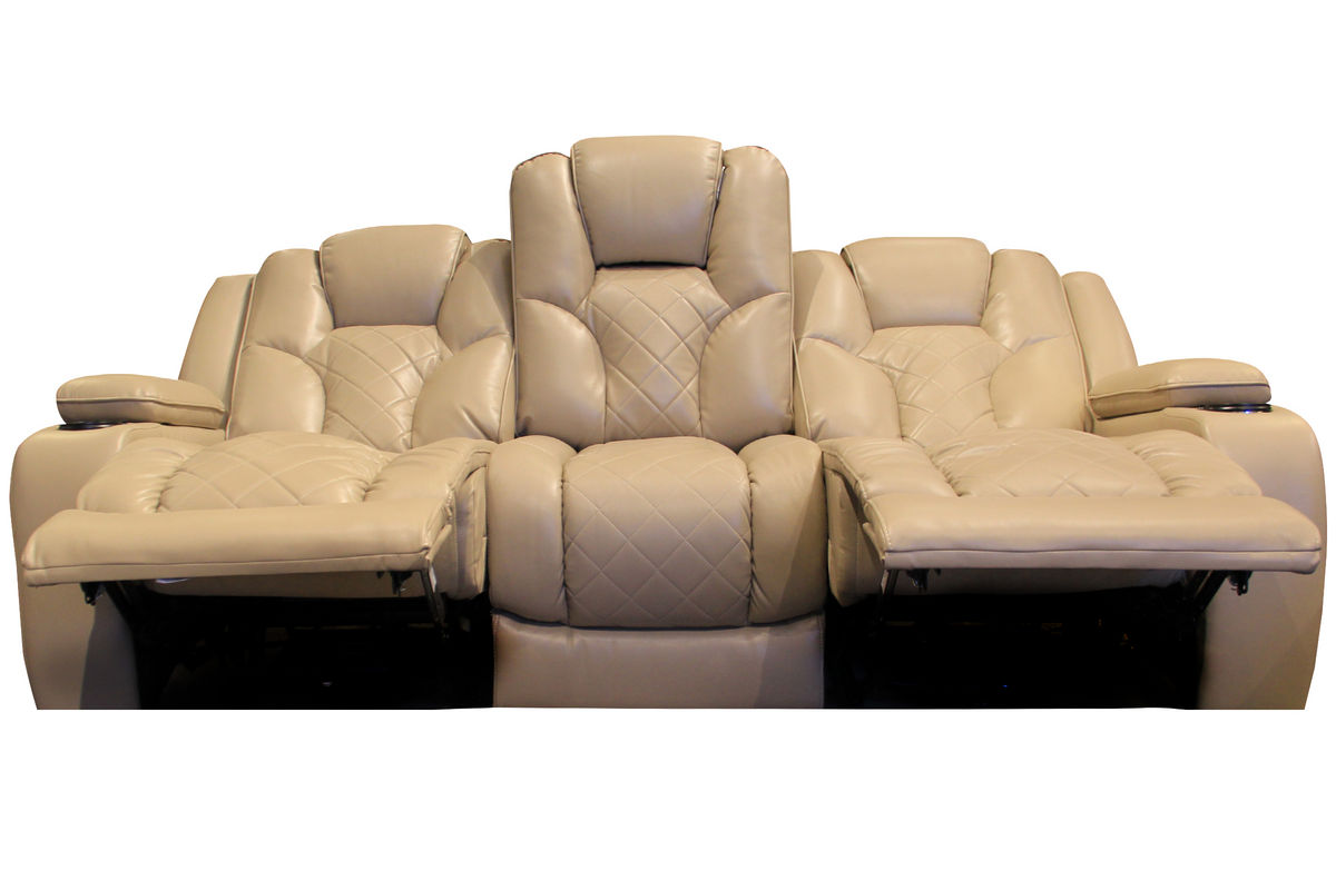 Turismo power reclining sofa with drop down table at for Sectional sofa with drop down table