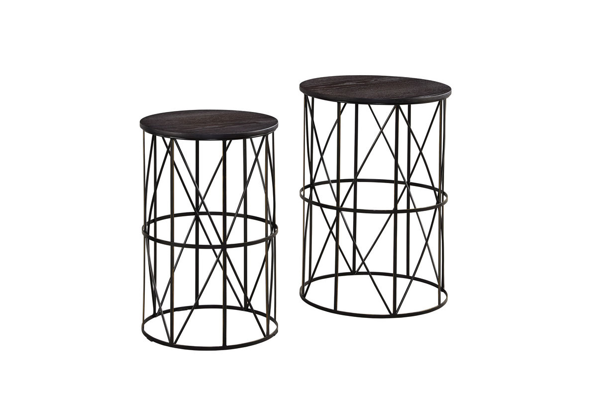 Top 28 Marxim Nesting End Tables Marxim Nesting End Tables Dark Bronze Finish Set Of 2
