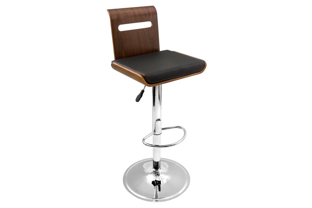 viera black bar stool by lumisource