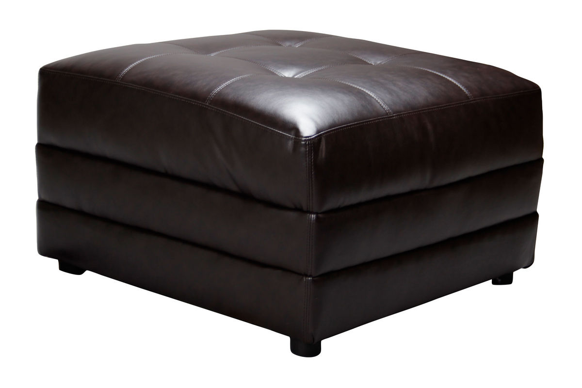 Bartek bonded leather ottoman at gardner white - What is an ottoman ...