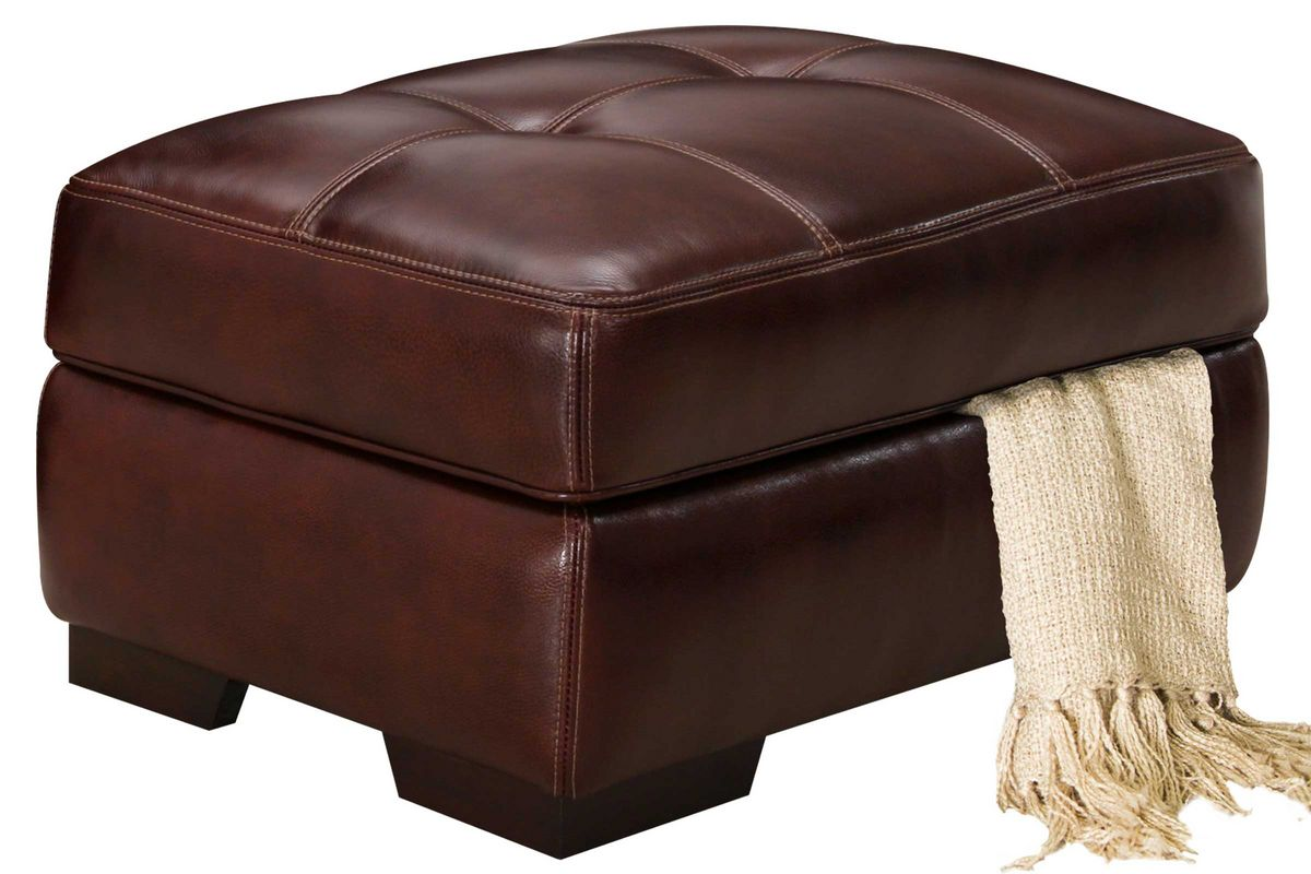 Tiffany Leather Storage Ottoman