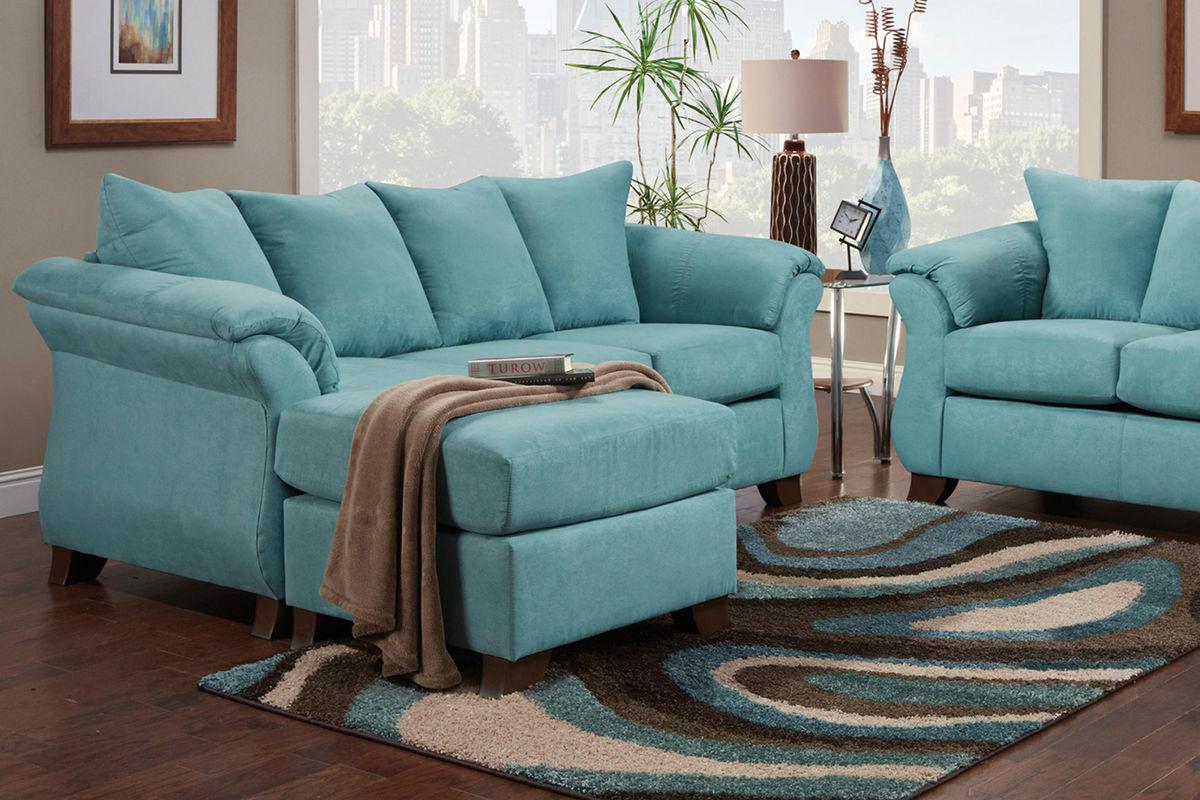 Blair White Microfiber Sofa