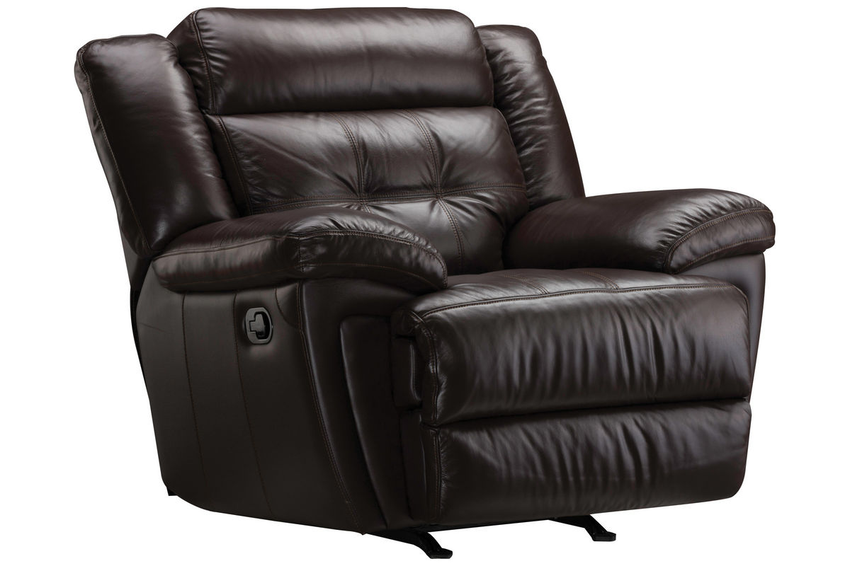Brookside Leather Rocker Recliner at Gardner-White