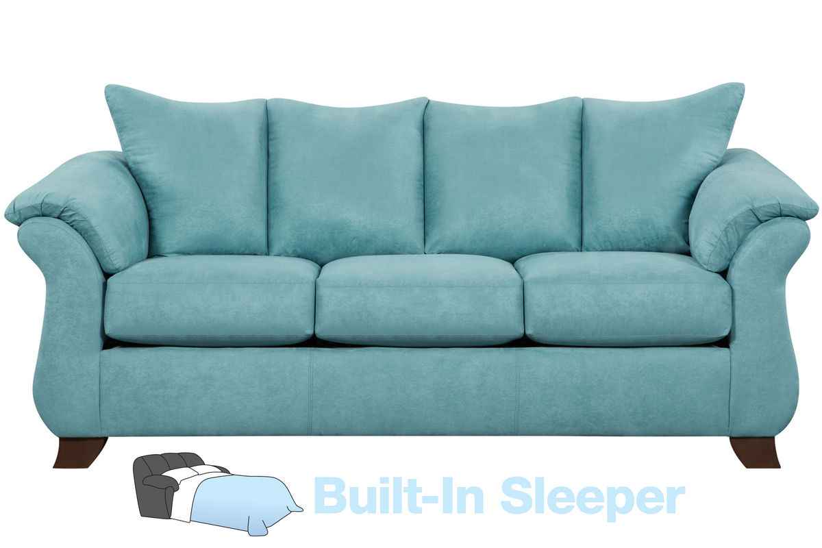 Taffy Microfiber Queen Sleeper Sofa At Gardner White