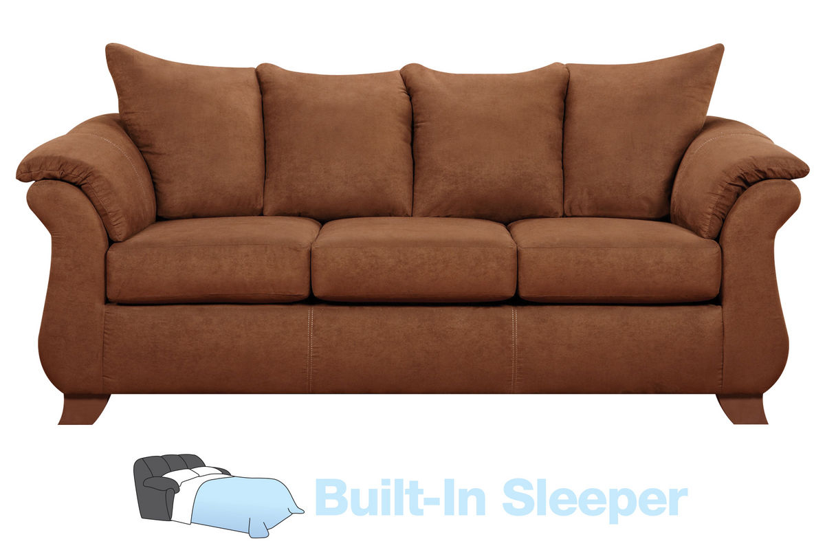 Vista Microfiber Queen Sleeper Sofa At Gardner White