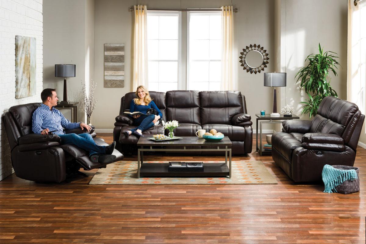 Houston Leather Power Reclining Sofa At Gardner White