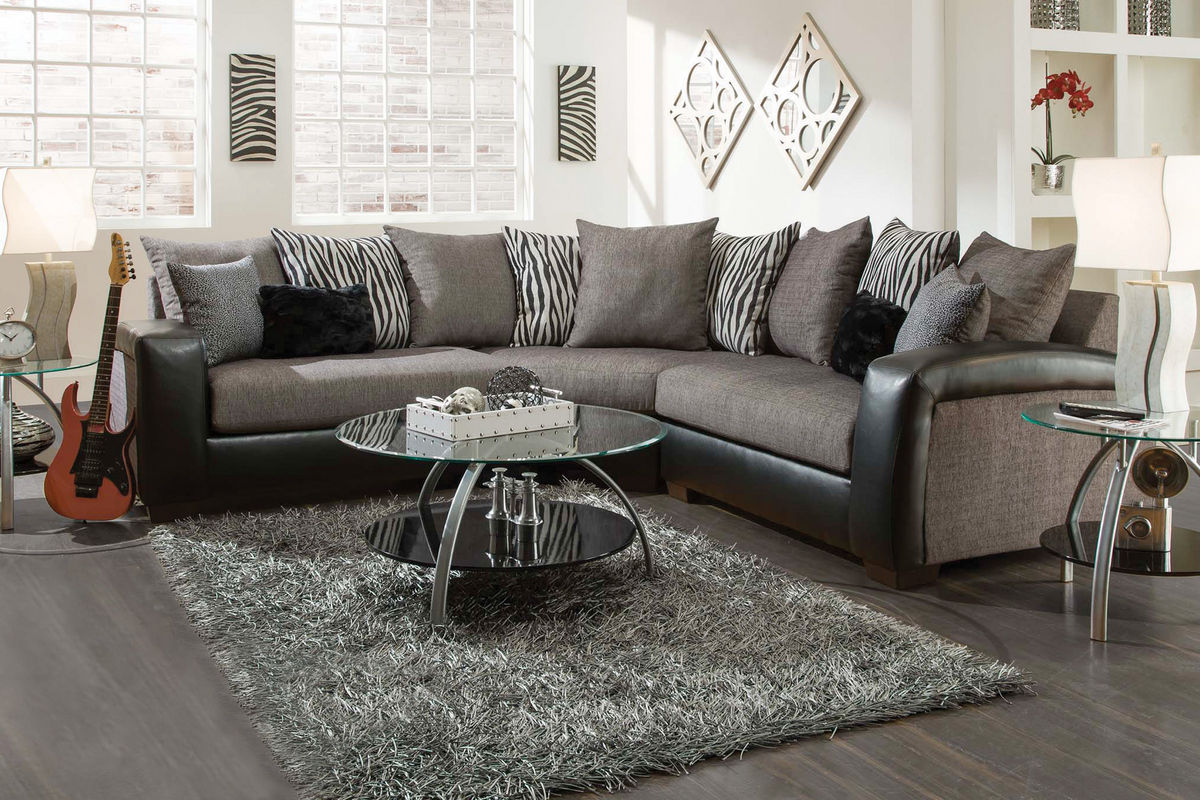 Ii 2 pc sectional and swivel chair american signature furniture - Remo 3piece Sectional From Furniture