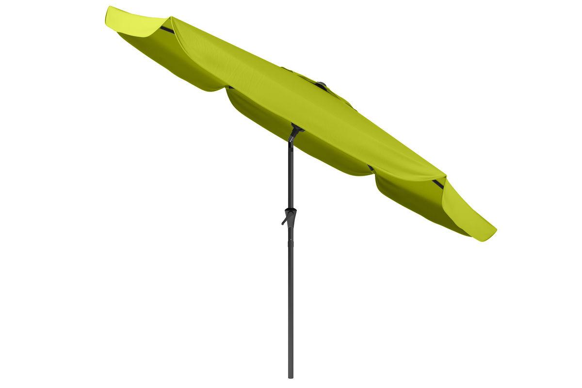 tilting patio umbrella in lime green