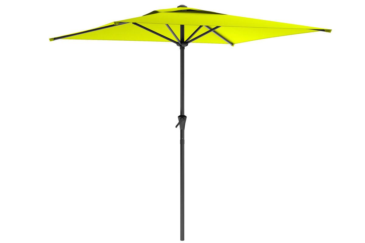square patio umbrella in lime green