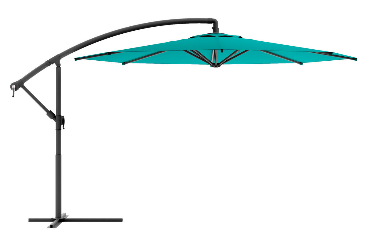 Offset Patio Umbrella In Turquoise Blue At Gardner White