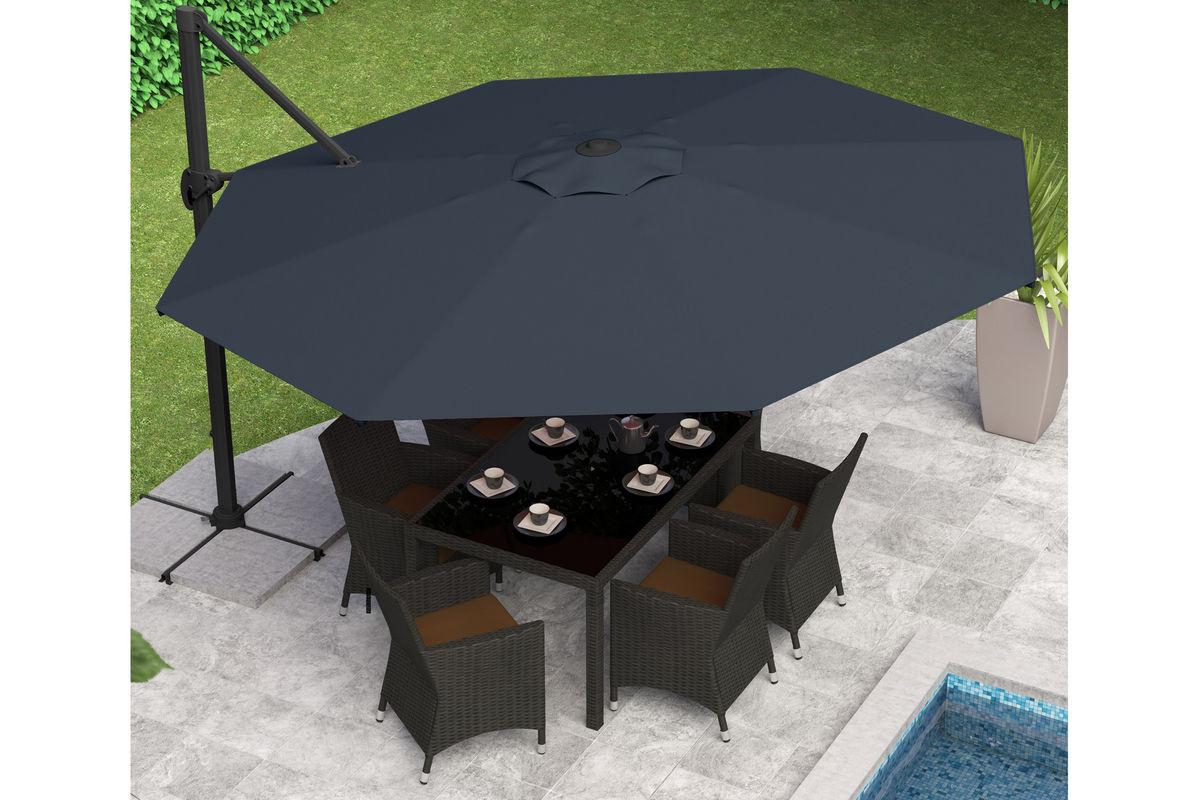 Black & White Offset Umbrella 19