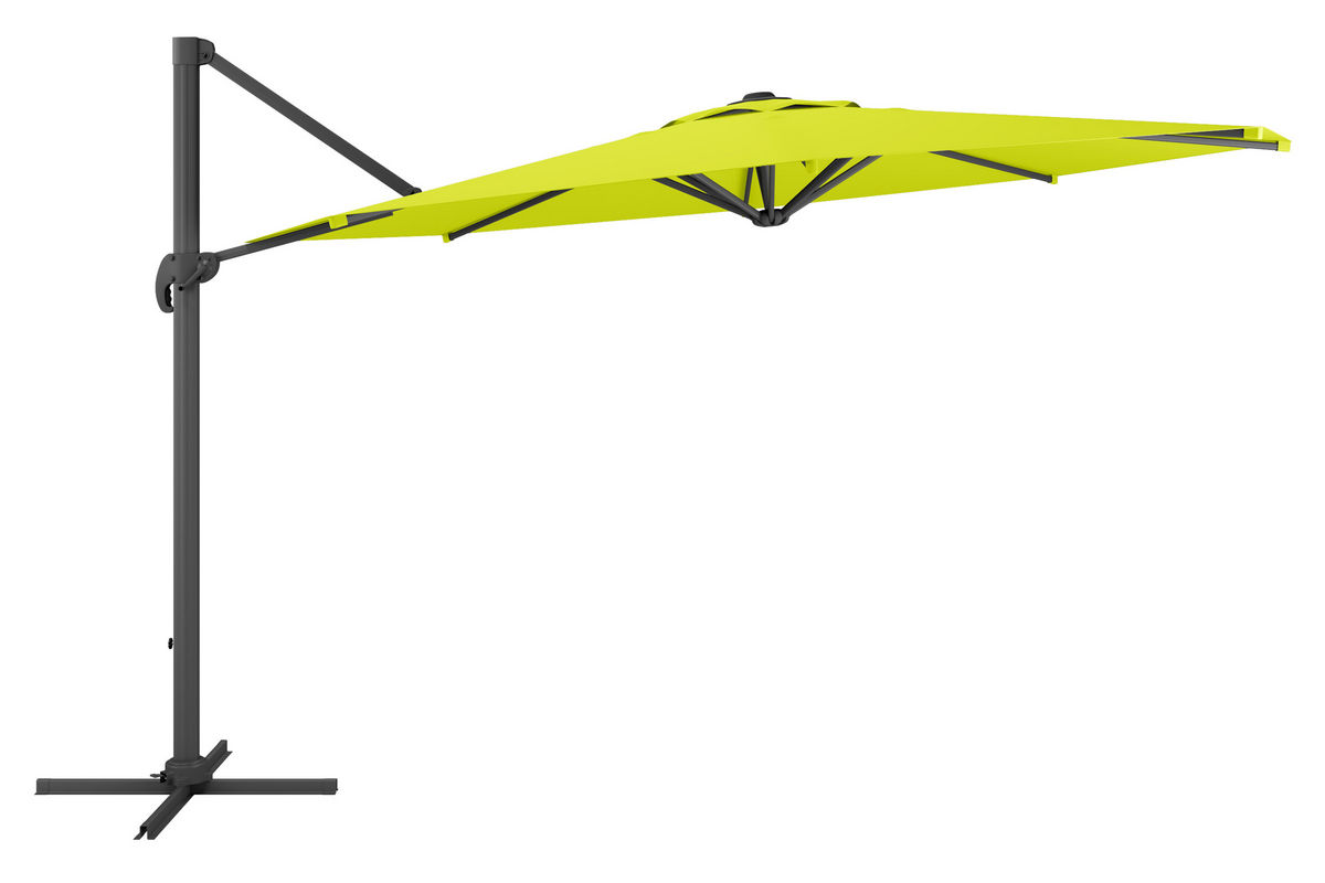 deluxe offset patio umbrella in lime green
