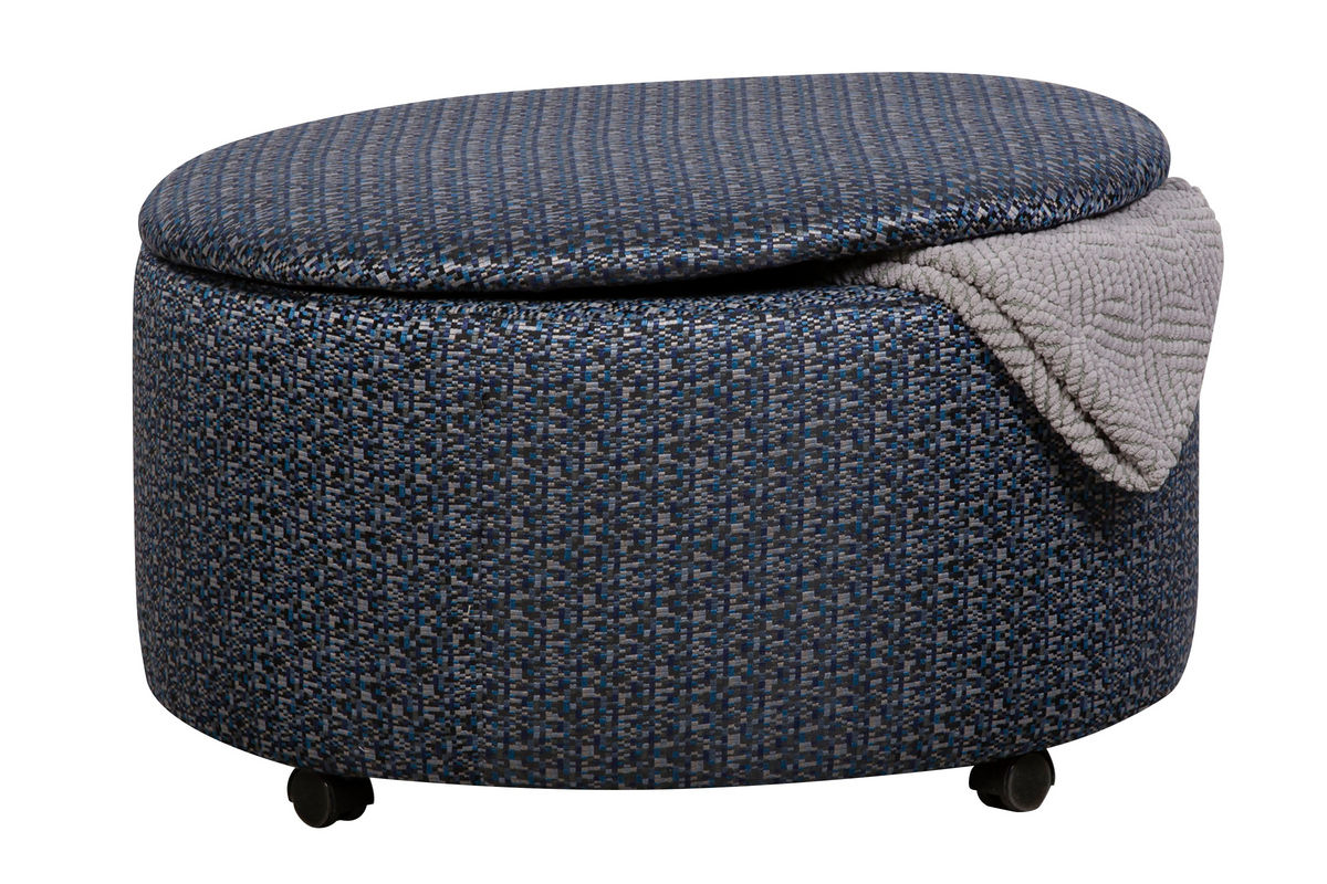 Binetti round storage ottoman at gardner white for Gardner storage
