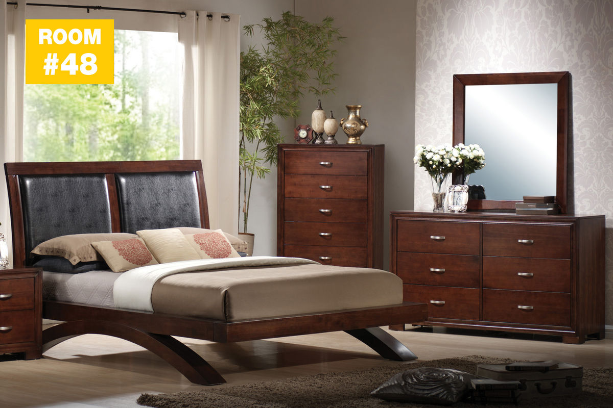 raven 4 piece queen bedroom set