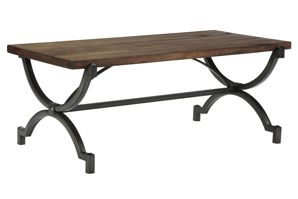 Rustic Brown Rectangular Cocktail Table At Gardner White