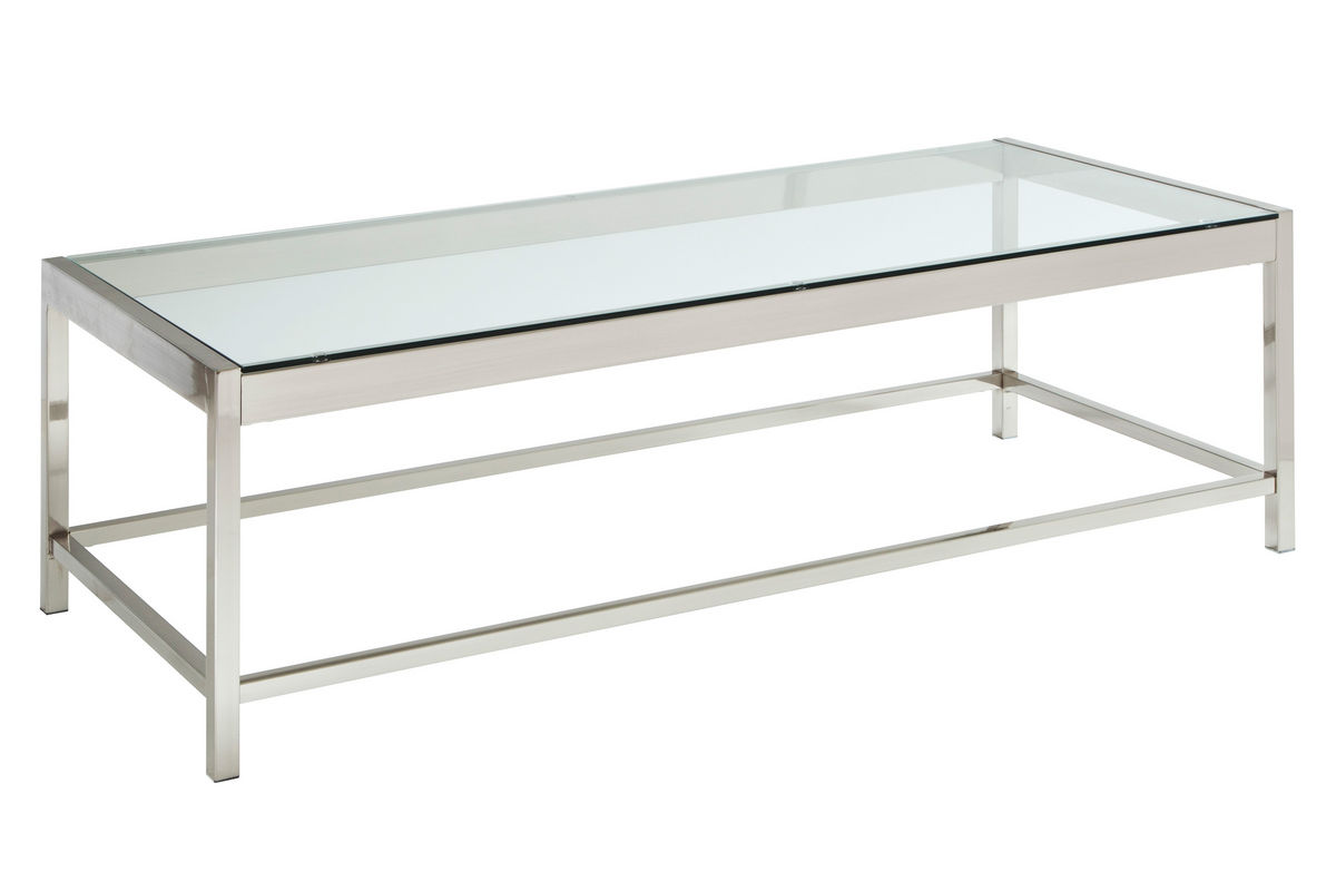 glass chrome rectangle cocktail table at gardner white With glass chrome coffee table rectangle