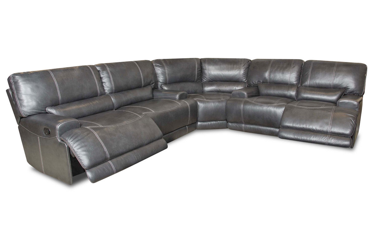 cannon leather power reclining sectional from gardner white furniture