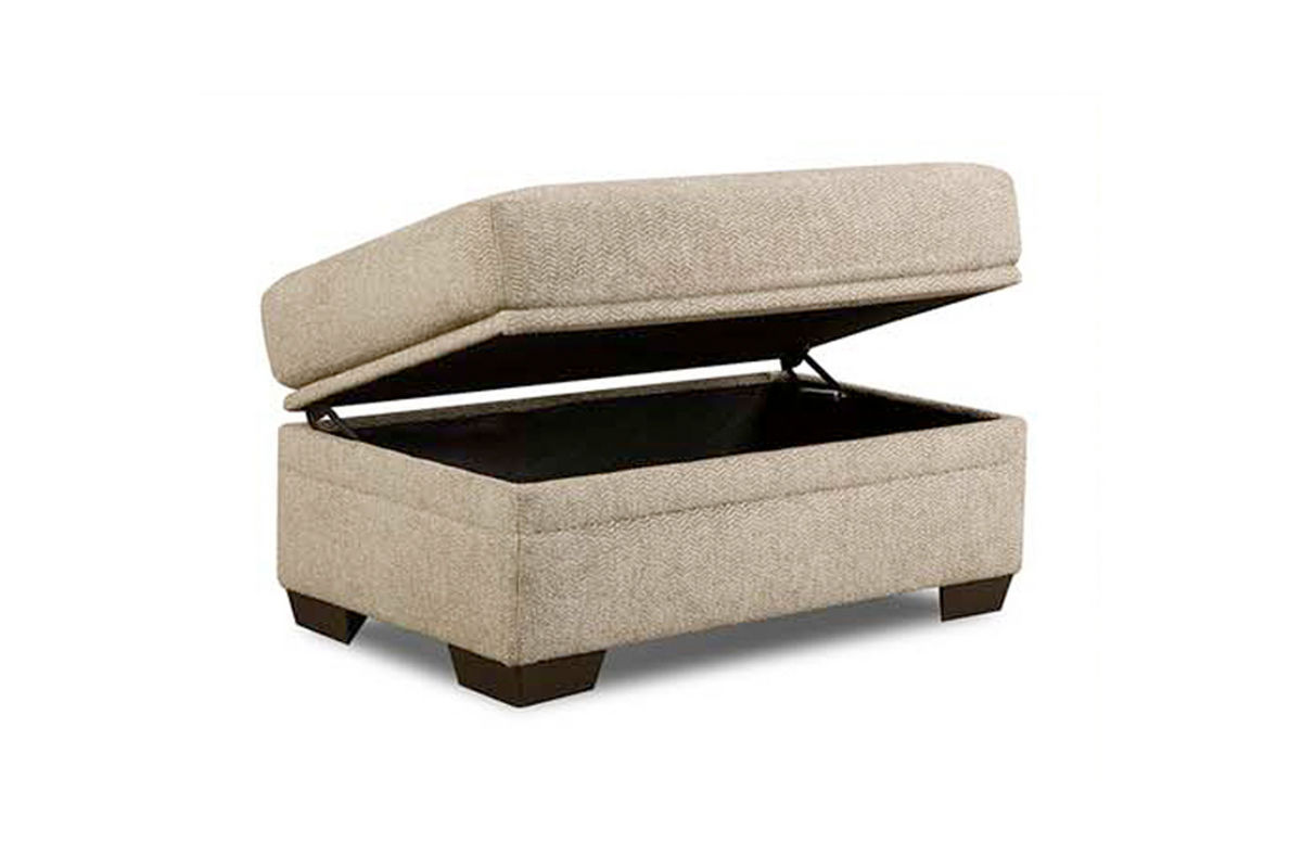 Cocoon storage ottoman at gardner white for Gardner storage