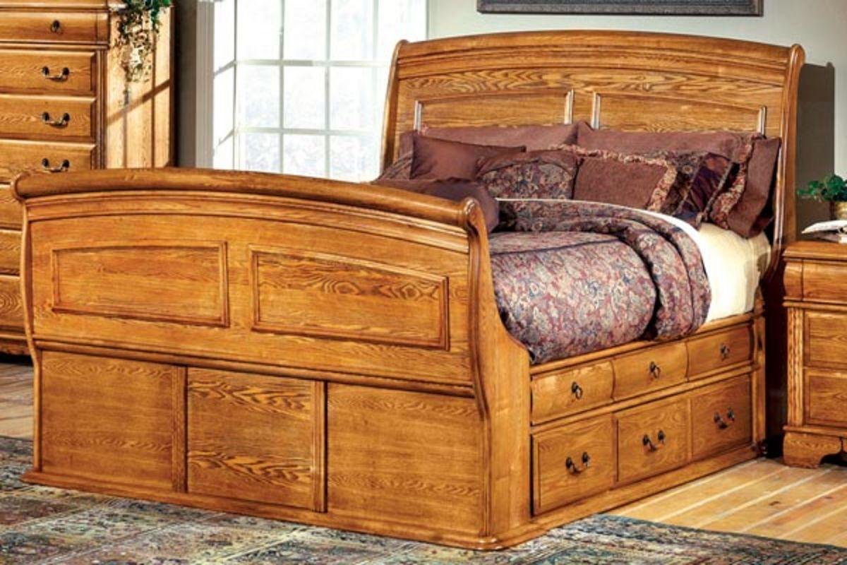 Pigeon king bed with storage at gardner white for Gardner storage