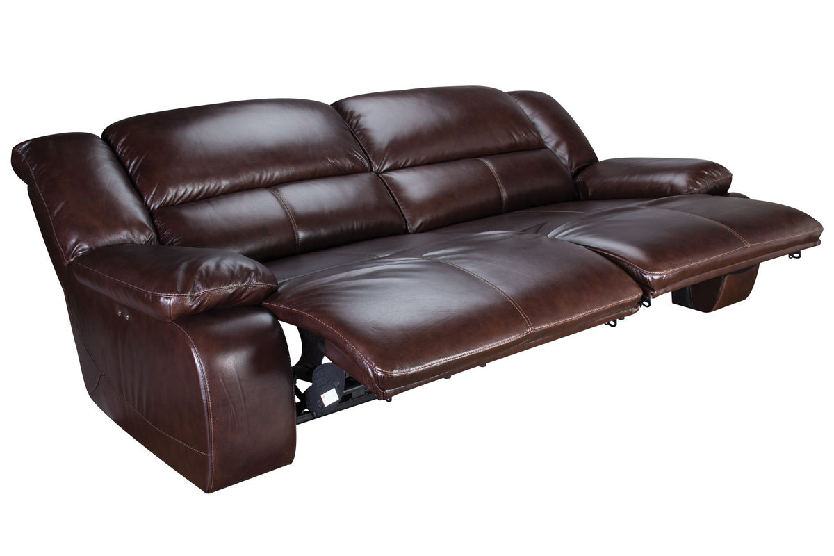Amarillo Power Reclining Leather Sofa At Gardner White