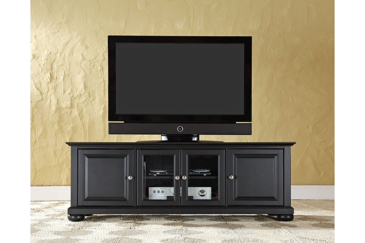 Alexandria 60 Low Profile Tv Stand In Black Finish By
