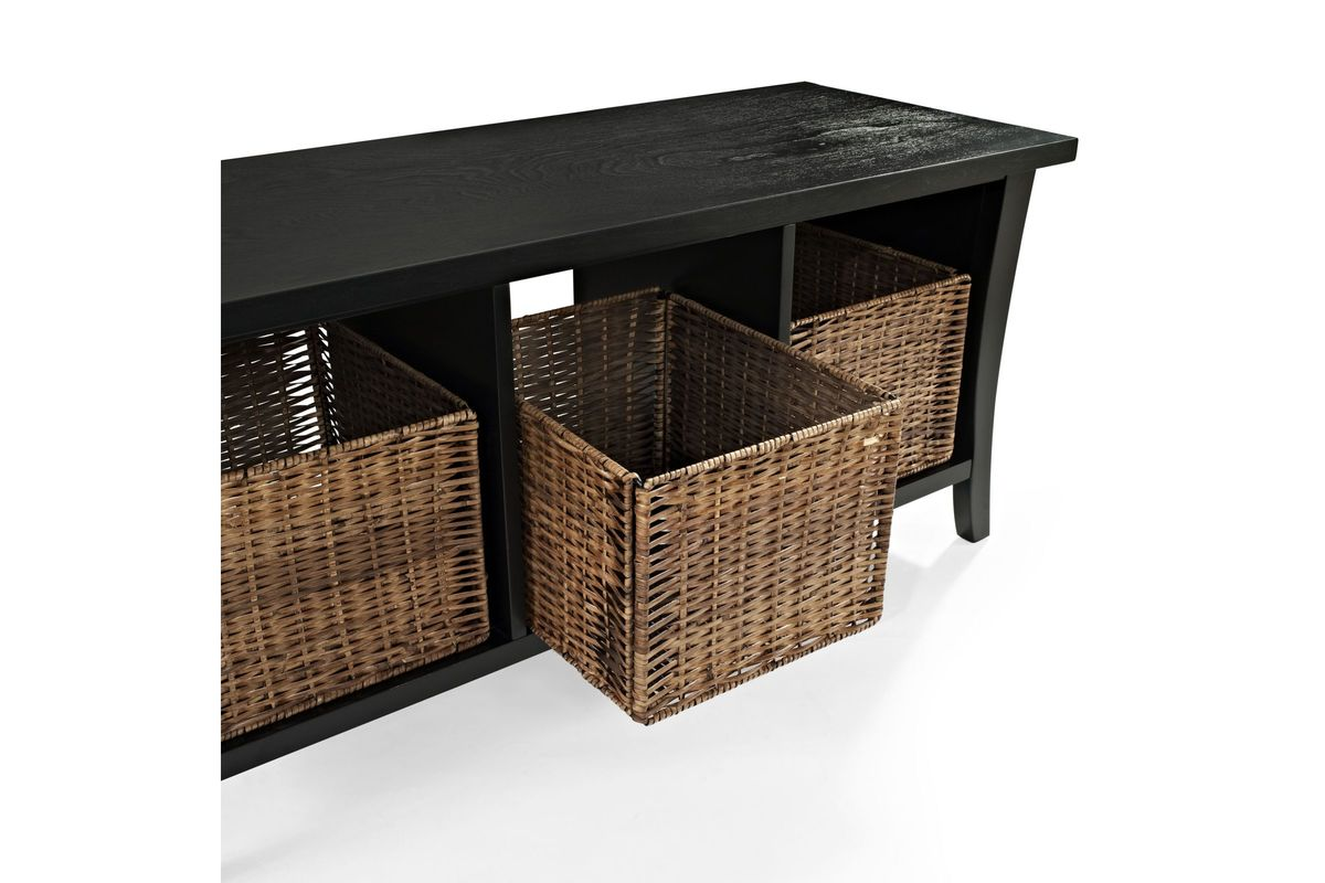 Wallis Entryway Storage Bench In Black By Crosley At Gardner White