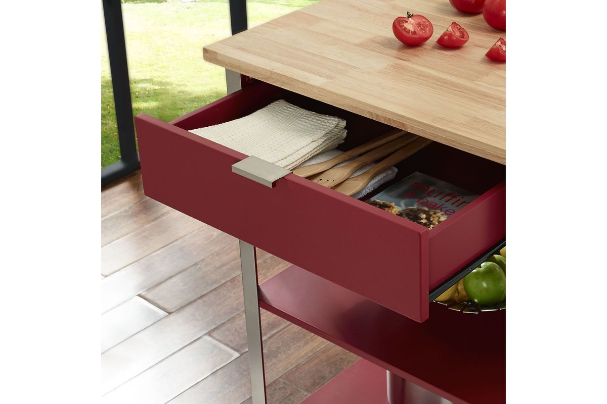 Culinary Prep Kitchen Cart In Red By Crosley At Gardner White