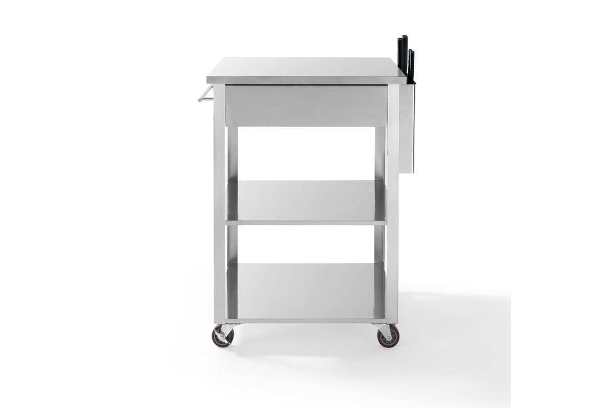 Culinary Prep Kitchen Cart In Stainless Steel By Crosley Fdrop 170327