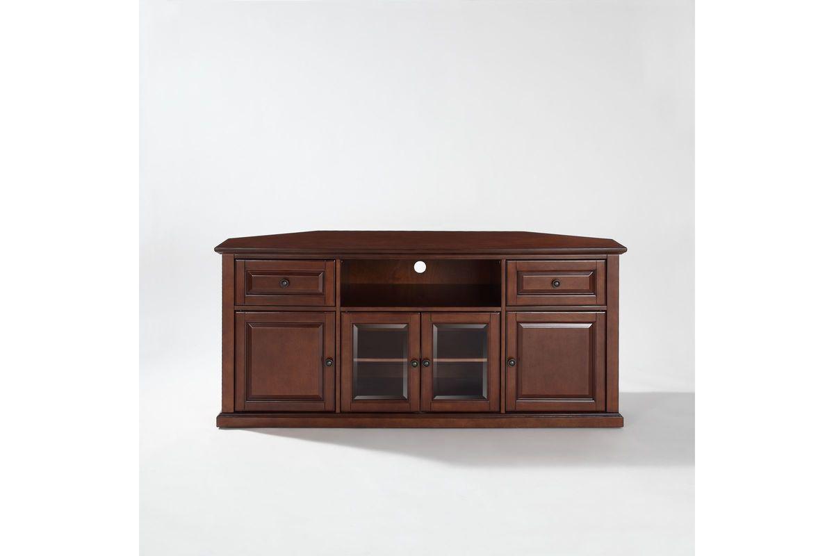 60 corner tv stand in vintage mahogany by crosley at gardner white. Black Bedroom Furniture Sets. Home Design Ideas