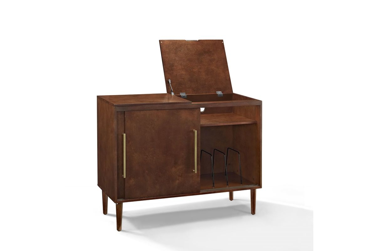 Everett Record Player Stand In Mahogany By Crosley
