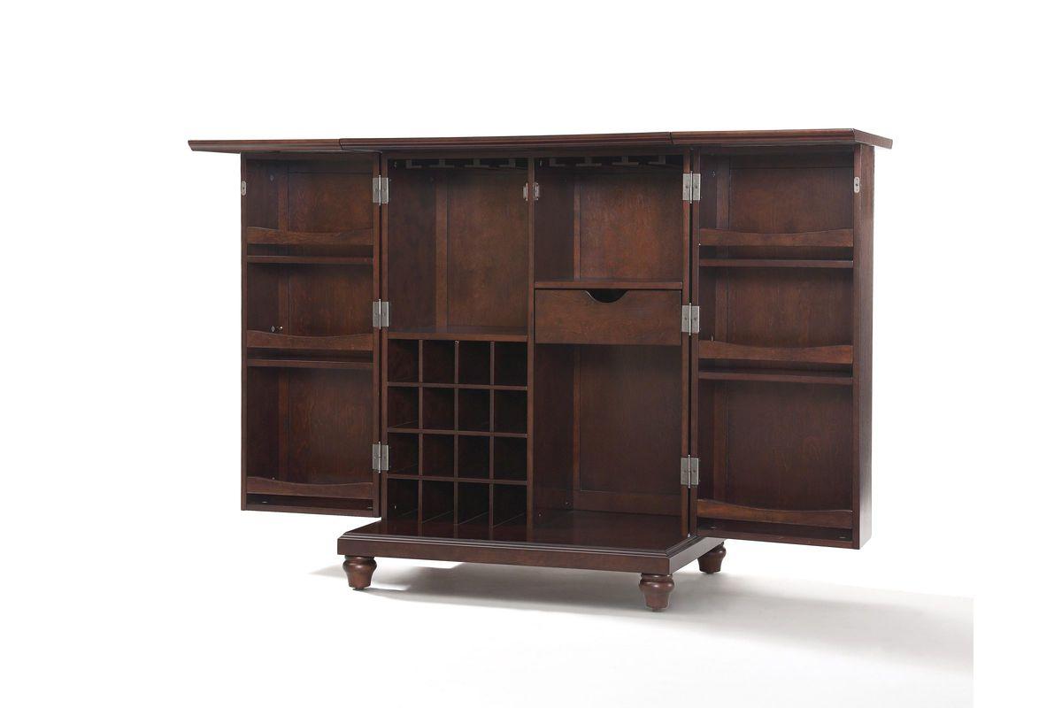 Cambridge Expandable Bar Cabinet In Vintage Mahogany