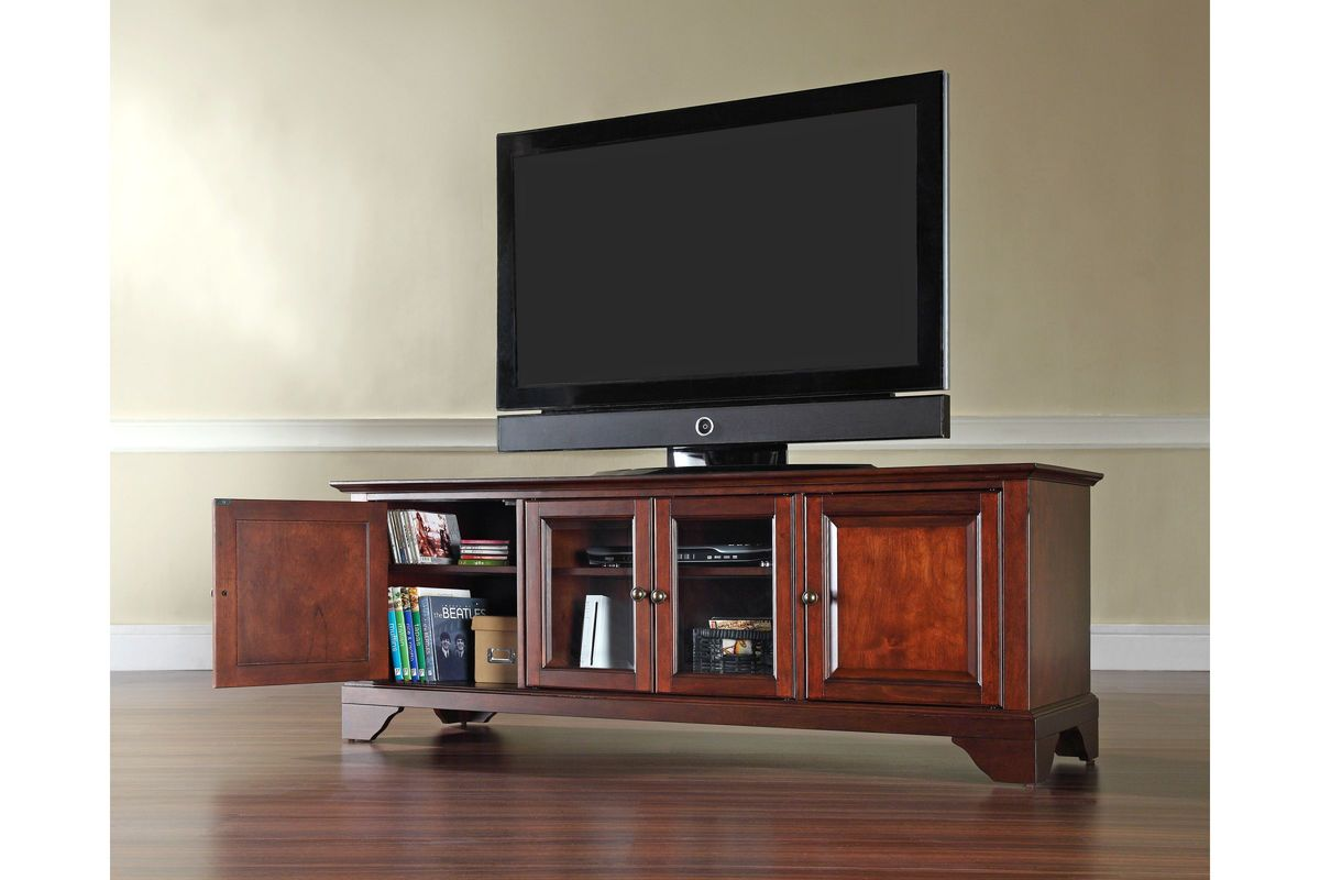 Lafayette 60 Low Profile Tv Stand In Vintage Mahogany