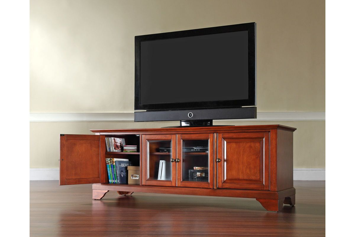 Lafayette 60 Low Profile Tv Stand In Classic Cherry