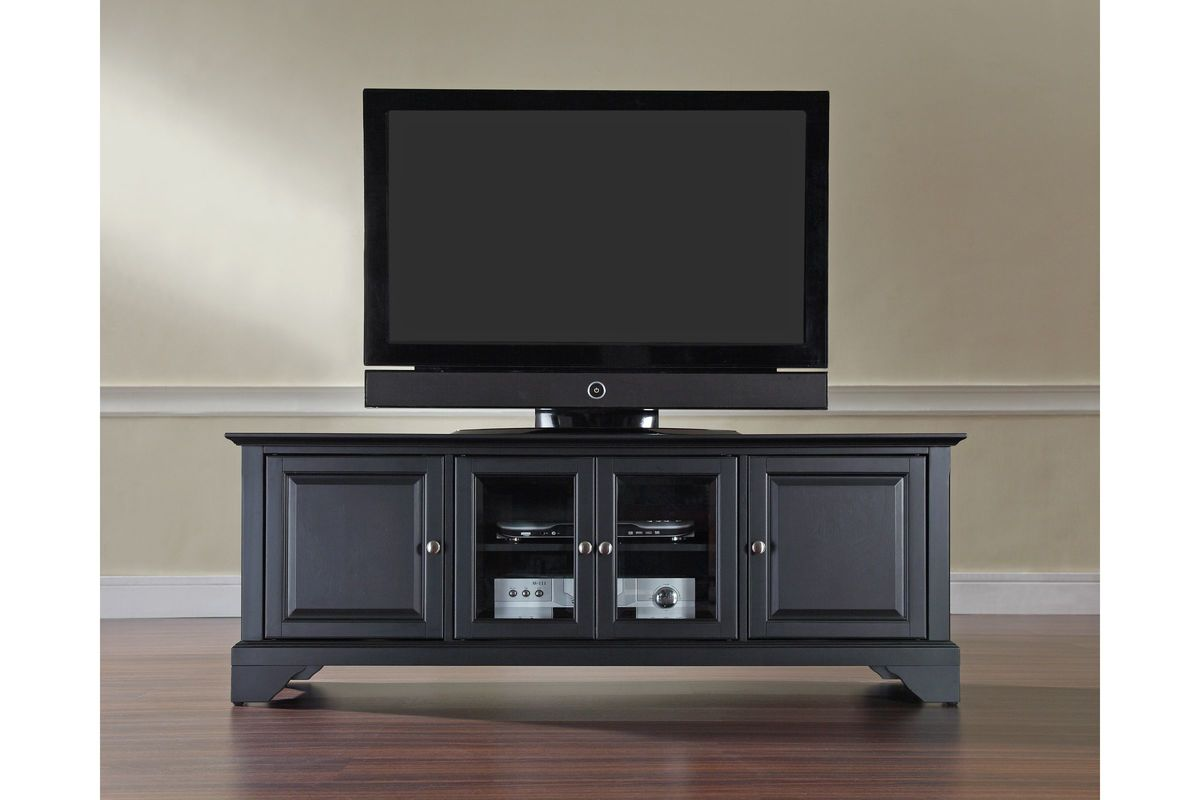 Lafayette 60 Low Profile Tv Stand In Black Finish By
