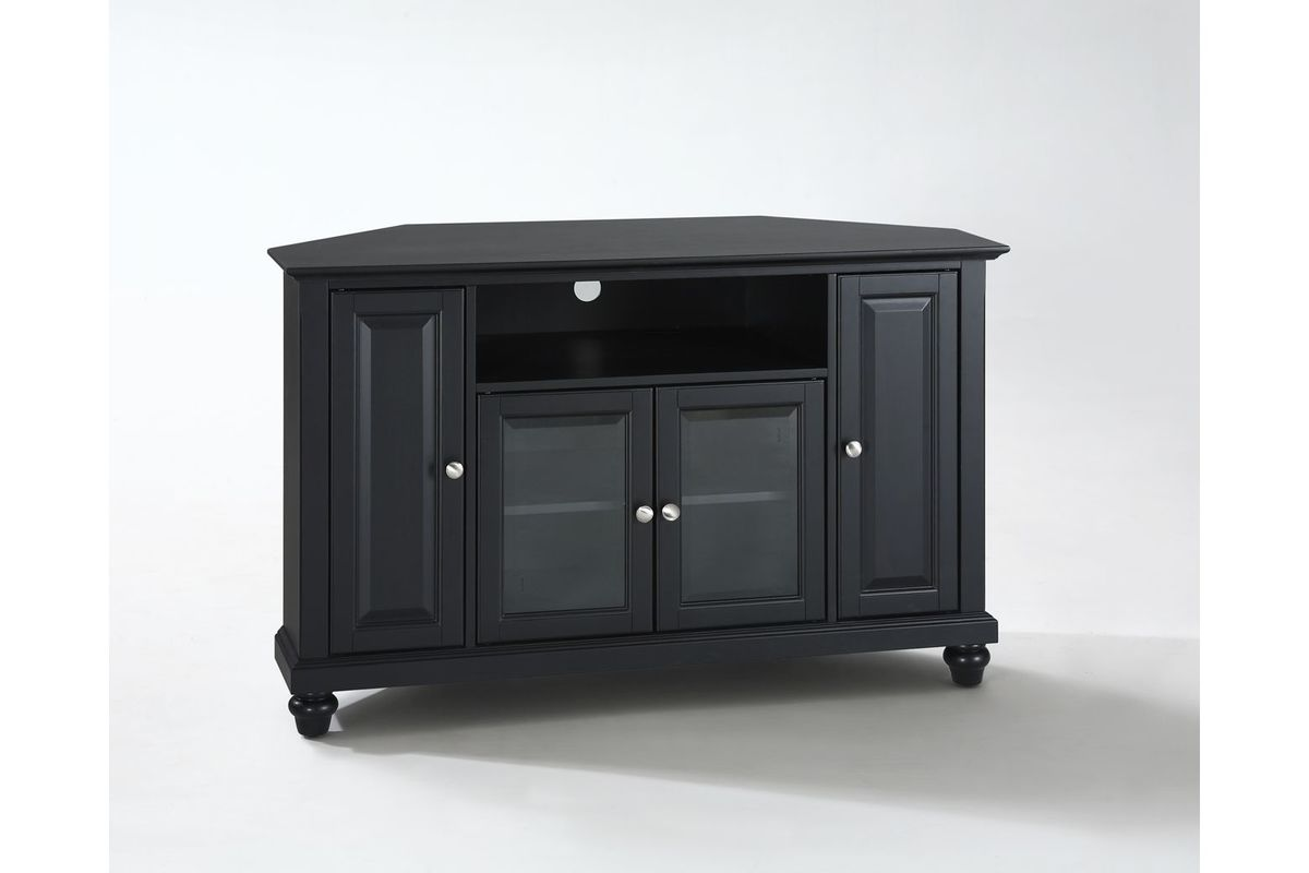 Cambridge 48 Quot Corner Tv Stand In Black By Crosley At