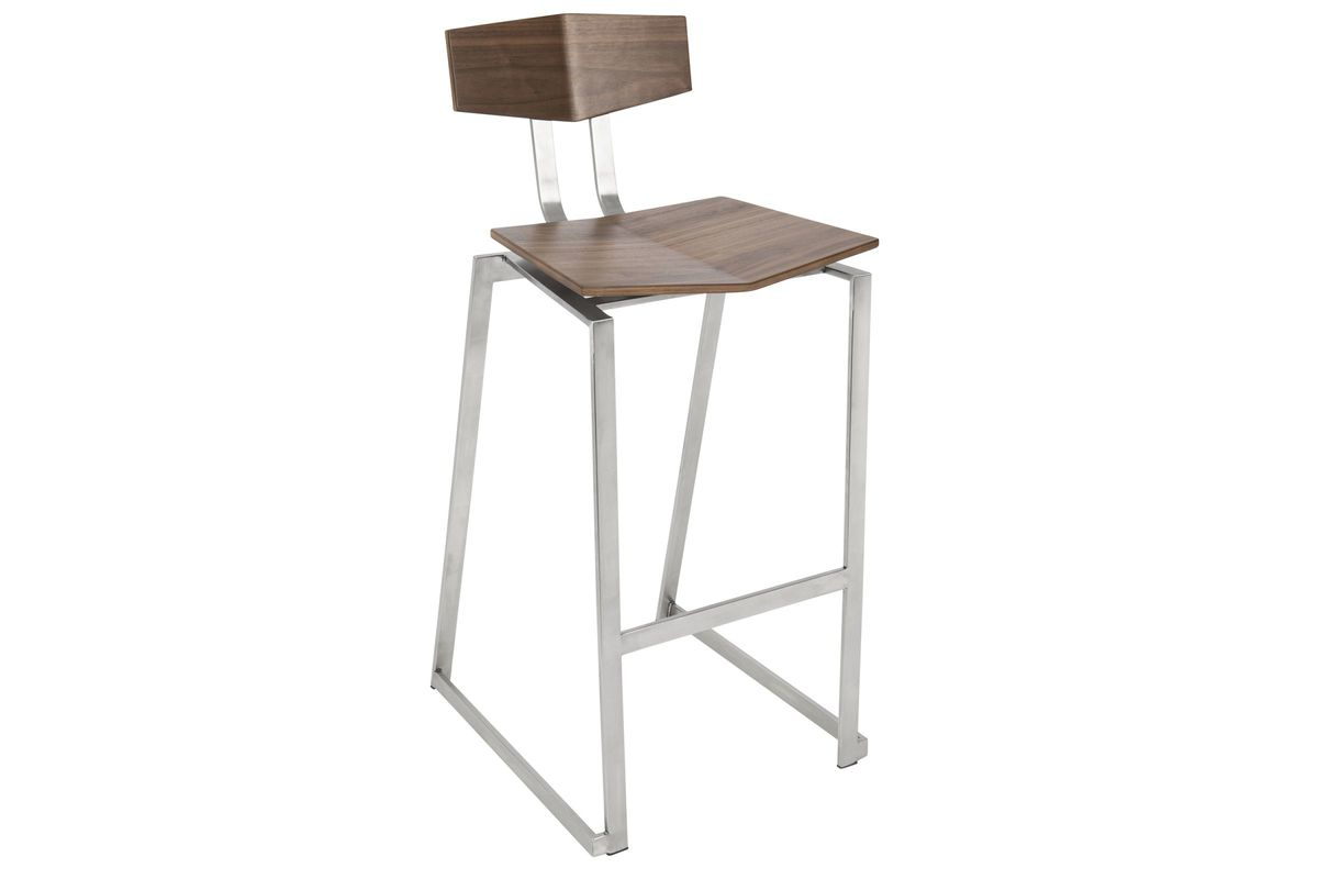 Scooper Contemporary Barstool In Matte Black By Lumisource